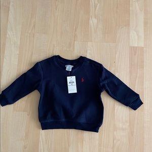 New Polo Ralph Lauren Boys Navy Sweatshirt 12M